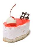 唯一乳酪蛋糕的樱桃 免版税库存照片