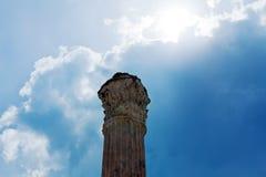 唯一古色古香的大理石柱 库存图片