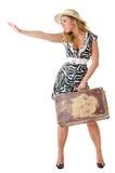 唯一妇女旅行 库存照片