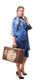 唯一妇女旅行 库存图片