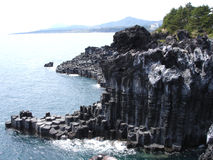唯一峭壁的岩石 库存照片