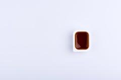 唯一快餐垂度在包含红色的塑胶容器调味 库存图片