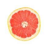 唯一成熟葡萄柚切成了两半隔绝  库存照片