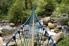 唯一桥梁的绳索 免版税库存照片