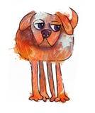 唯一水彩狗 创造性的例证 向量例证