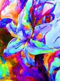 唯一水彩艺术背景摘要新dalicate明亮的白百合的花 免版税库存图片