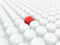 唯一球的高尔夫球 免版税库存图片