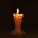 唯一的蜡烛 库存照片