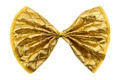 唯一礼物弓,金黄与一条丝带 免版税库存照片