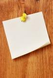 唯一空白的便条纸 库存图片