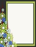 唯一空白花卉卡片设计 免版税库存图片