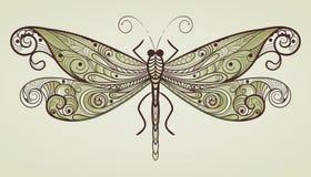唯一蜻蜓的模式 免版税库存图片