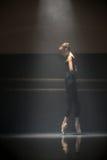唯一跳芭蕾舞者 库存照片