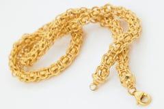 唯一链的金子 库存图片