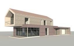 唯一系列的房子 3d设计 免版税库存照片