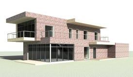 唯一系列的房子 3d设计 库存照片