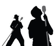 唱向量的2男 免版税图库摄影