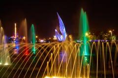 唱歌喷泉在奥林匹克公园 免版税库存照片