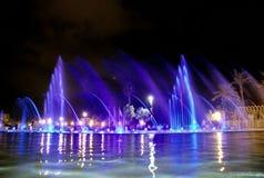 唱歌喷泉 免版税库存图片