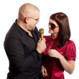 唱歌夫妇 免版税库存图片