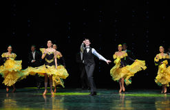 唱歌摇摆这奥地利的世界舞蹈 免版税库存照片