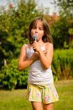 唱歌是我的喜悦 库存照片