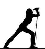唱歌的妇女 免版税库存照片