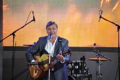 唱歌的执行者,演员,吉他弹奏者亚历山大Blok 库存照片