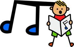 唱歌的男孩 免版税库存图片