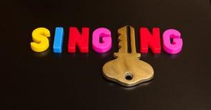 唱歌的钥匙 免版税库存图片