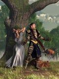 唱歌的骑士 皇族释放例证