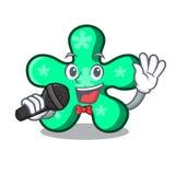 唱歌自由格式吉祥人动画片 库存例证