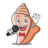 唱歌逗人喜爱的壳字符动画片 库存照片