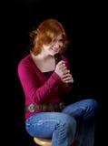 唱歌青少年 免版税库存图片