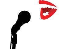 唱歌 免版税库存照片