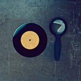 唱片和放大器 免版税图库摄影
