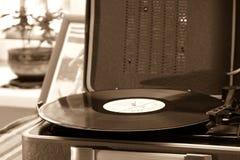 唱片的葡萄酒球员 免版税库存照片