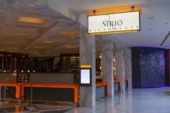 唱腔的在拉斯维加斯, 2013年8月06日的NV Sirio餐馆 库存图片
