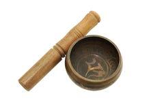 唱西藏的碗 免版税库存照片
