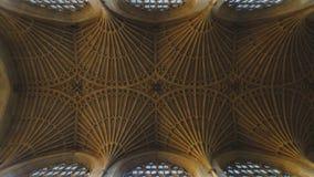 唱诗班在巴恩修道院里跳跃天花板 免版税库存图片