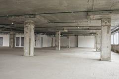 商业中心内部建设中 免版税库存图片