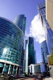 商业中心莫斯科市的摩天大楼 库存图片