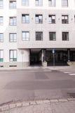 商业中心从外面 库存图片
