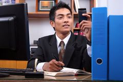 商业主管年轻人 免版税库存图片