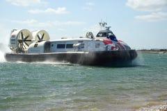 商业乘客气垫船 免版税库存图片