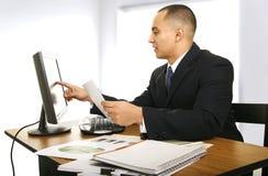 商业他的人办公室 免版税库存照片