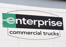 商业企业符号卡车 免版税库存图片