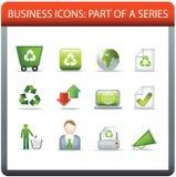 商业保存图标的5回收系列 库存例证