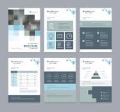 商业公司外形、年终报告、小册子、飞行物、介绍、杂志和书布局模板, 向量例证