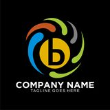 商业公司的最初的B摘要商标 图库摄影